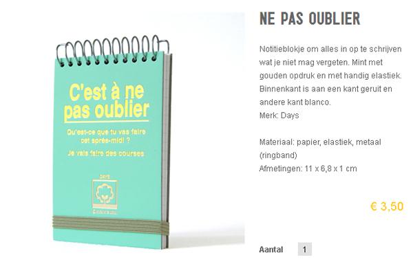 Niet vergeten notitieboek bij Paperstories
