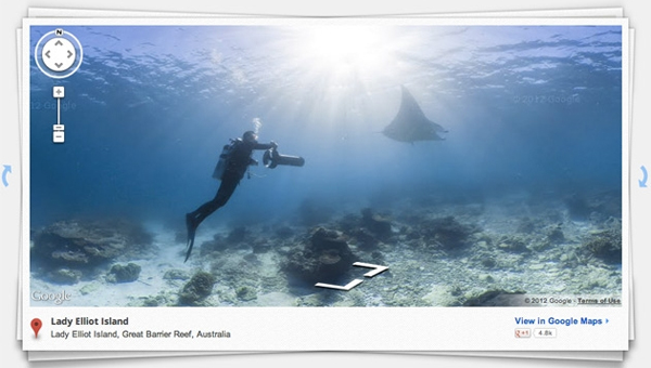 Google Street View Ocean