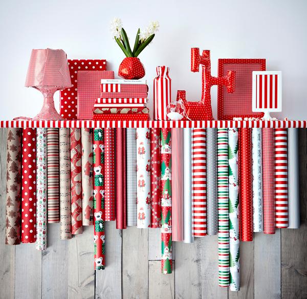 Kerst bij IKEA; pakpapier