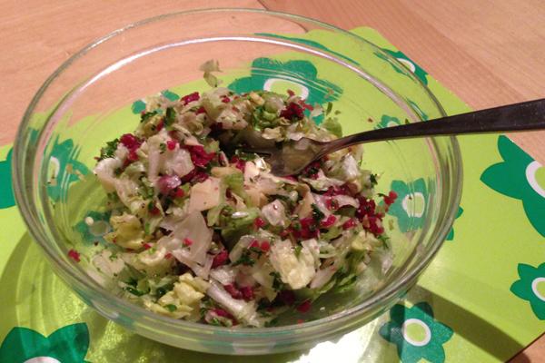 Carpaccio salade met ijsbergsla