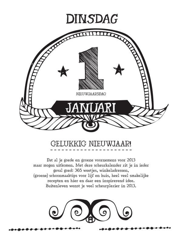 Buitenleven scheurkalender 1 januari