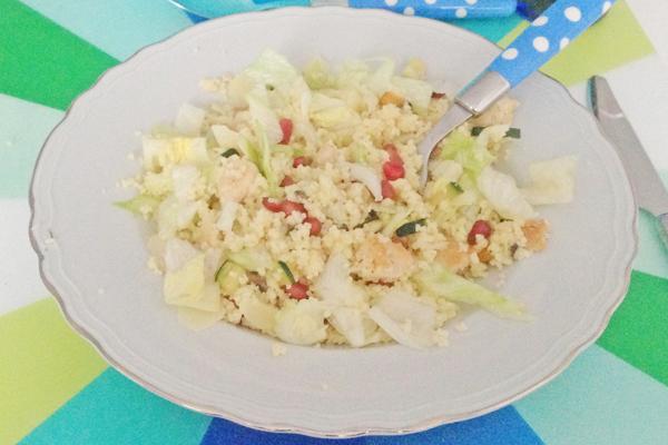 Couscous met granaatappelpitjes