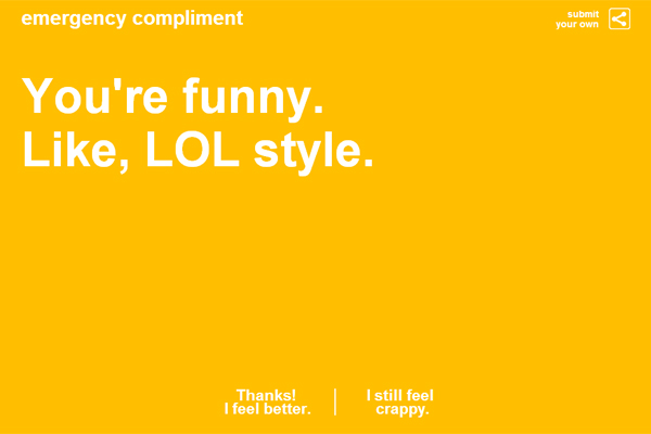 Emergency Compliment; lol