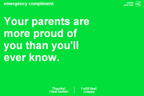 Emergency Compliment; parents
