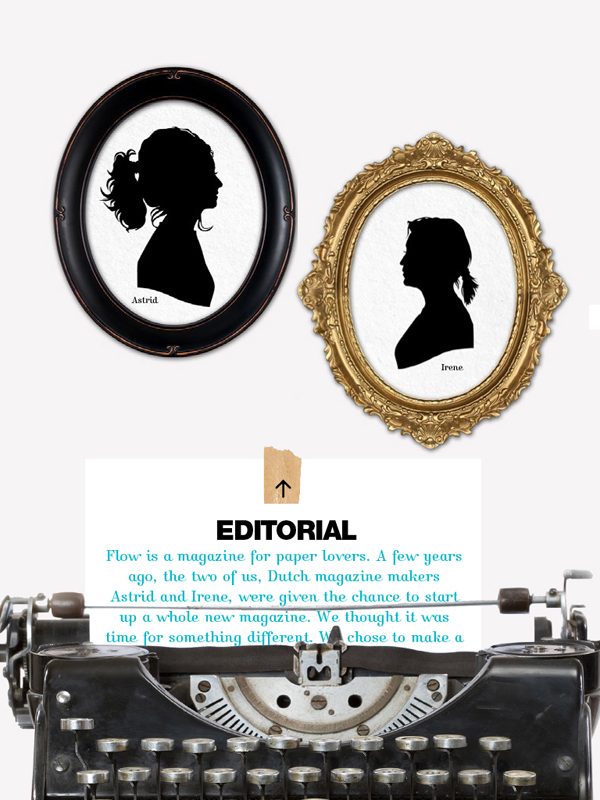 Editorial in de iPad app van Flow Magazine
