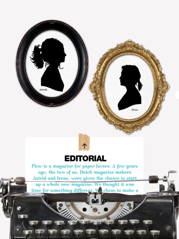 Editorial in de iPad app van Flow Magazine