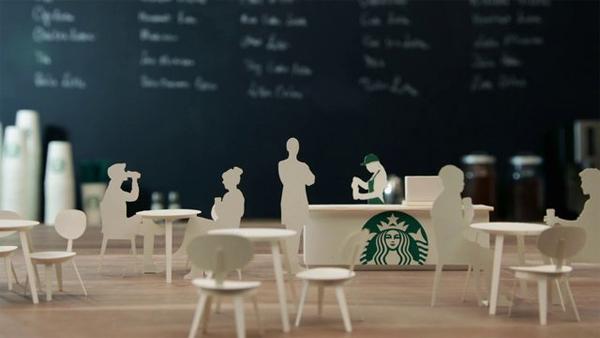 Starbucks papierkunst