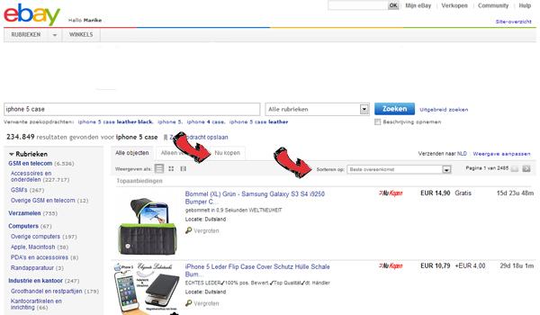 Handleiding voor Ebay