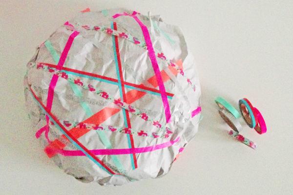 Inpakken met masking tape