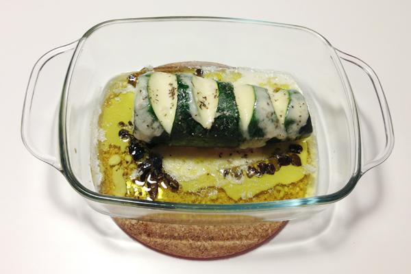 Courgette met mozzarella uit de oven