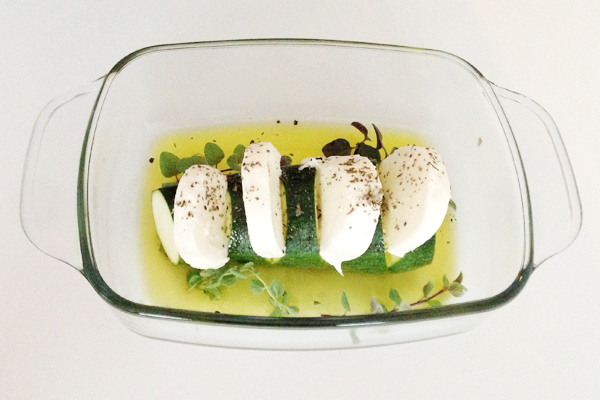 Courgette met mozzarella