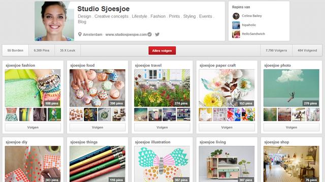 Pinterest; studio sjoesjoe