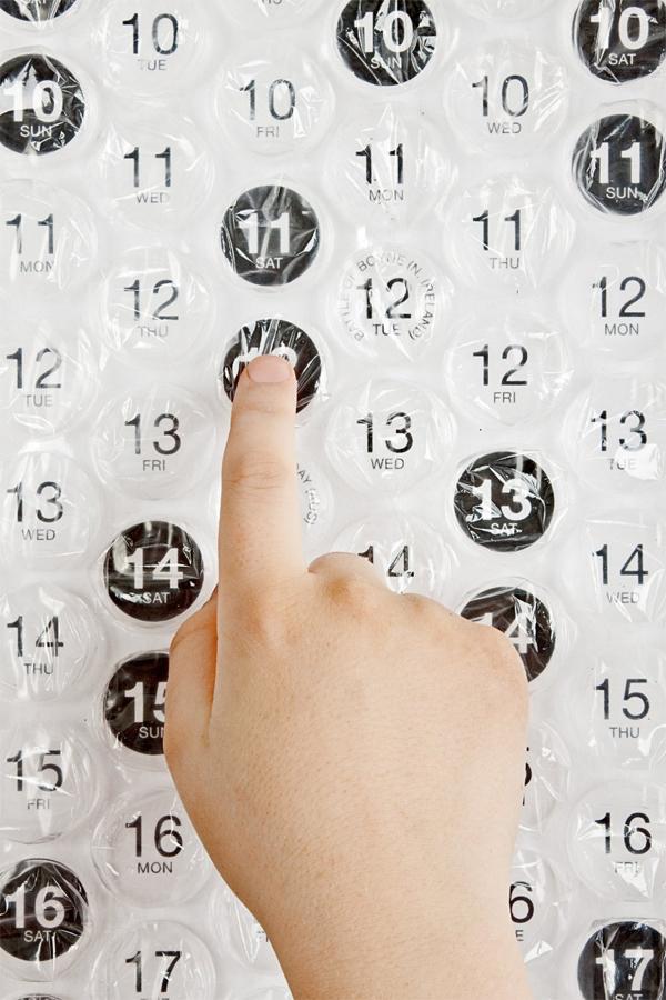 Een creatief 2014 - Bubbeltjeskalender