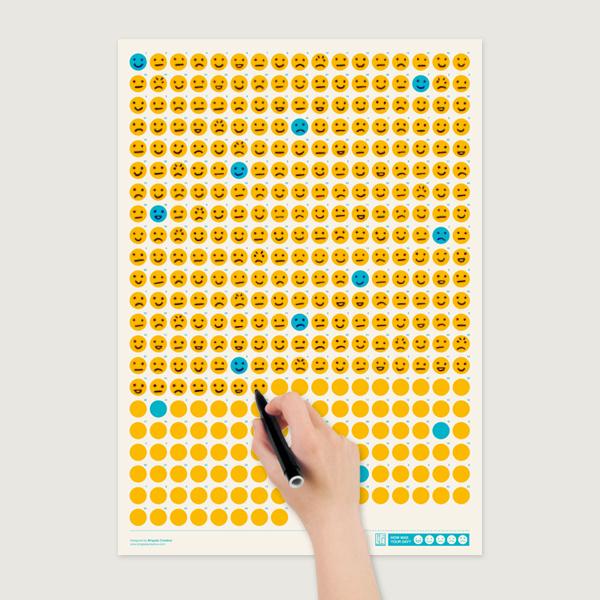 Een creatief 2014 - Smiley kalender