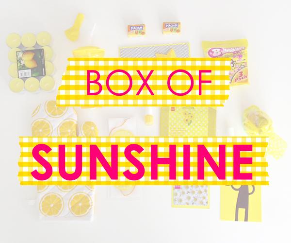 Cadeau; box of sunshine