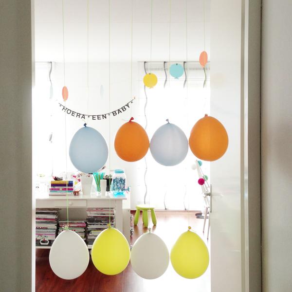 Javian's kraamfeest; ballonnen
