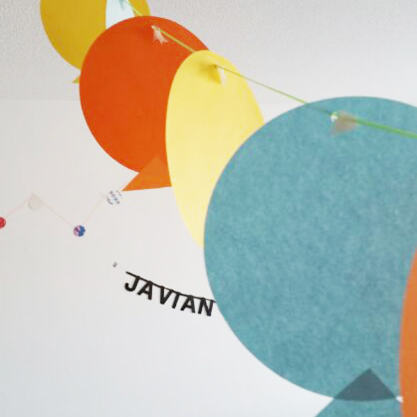 Javian's kraamfeestje; slinger