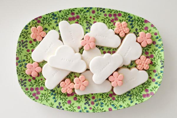 Javian's kraamfeest; koekjes