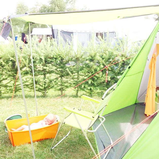 Stokke Flexi Bath op de camping