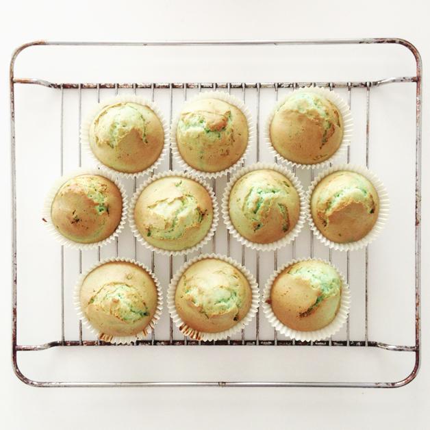Mintgroene muffins