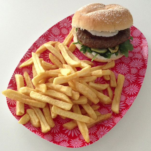 Happy Moments september 2014 - burger met friet