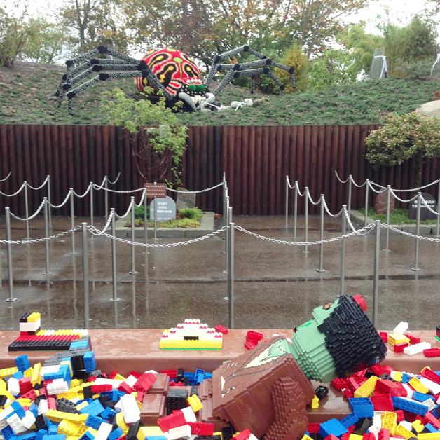 Legoland Halloween - spookhuis met duplo